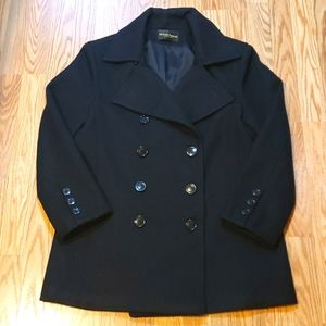 🔹️Michelle Francois Wool Pea Coat double breasted